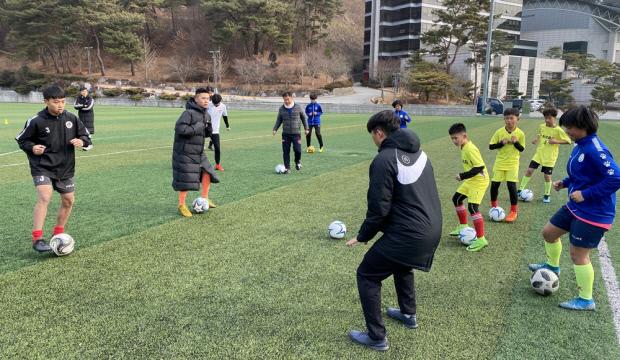 중국 강서성 청소년 클럽, '호남대 축구' 배운다
